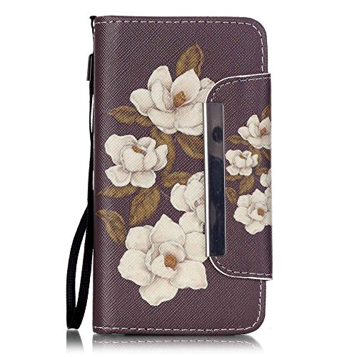 nancen Apple iPhone 4/4S (3,5 pollici) Custodia Custodia in pelle PU Bookstyle Case Smartphone Cover a Libro, nove stile premium versione migliorata chiusura magnetica [lunga chiusura] - Cover di protezione a portafoglio con funzione stand Credit Scheda tasca e tracolla
