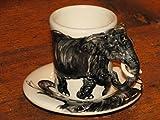 ELEFANTE Taza de caf expreso, Blue Witch Ceramics, 3D