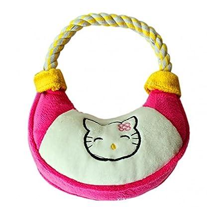 Lovely Handbag Shape Pet Dog Puppy Plush Chew Biting Play Fetch Training Toy - Random Color Random Style 5
