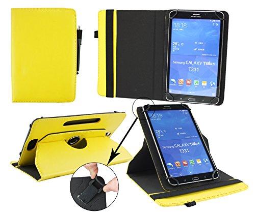 Emartbuy® AlpenTab Heidi 7 Zoll Tablet PC Universal ( 7 - 8 Zoll ) Gelb PrämiePULeder360GradrotierendeStandFolioGeldbörseTascheHülle + Schwarz Eingabestift