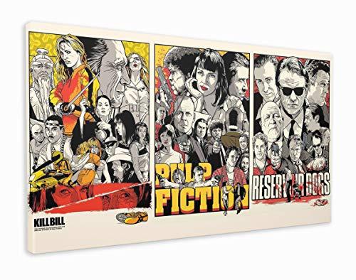 M2M Prints Quentin Tarantino Film Collage Druck Leinwanddruck, Canvas, Multi, 101x61cm (40x24 Inches)