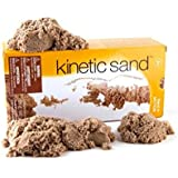 Kinetic Sand 453 Gms with 3 Moulds - Original - Made in Sweden (Natural)