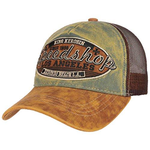 King Kerosin Trucker Cap »Speedshop« Speedshop Herren Sportlich Colorblocking Stickerei Casualmode Schnalle Trucker Cap