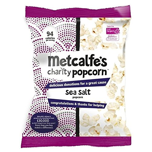 Metcalfe 's Meersalz Topcorn Teilen Flaco Beutel 70g (Packung von 6)