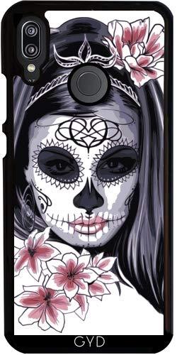 DesignedByIndependentArtists Hülle für Huawei P20 Lite - Schädel Horror Gotik Halloween by WonderfulDreamPicture