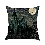 SEWORLD Happy Halloween Kissenbezüge Leinen Sofa Kissenbezug Home Decor C