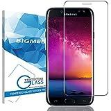 Samsung Galaxy J7 2017 Verre Trempé Couverture Complète,BIGMEDA Anti-traces de Doigts J7 2017 Glass Film Protection d'écran Ultra Définition Anti-scratch Anti-Bubble 9H Glass Protecteur D'écran pour Samsung Galaxy J7 J730 Protection écran Screen Protector (Transparent)