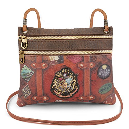 Karactermania Harry Potter Railway Bolso Bandolera, 22 cm, Marrón