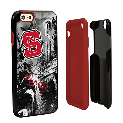 Wolfpack Designs (NCAA North Carolina State Wolfpack Paulson Designs Spirit Hybrid Case for iPhone 6, One 6, Black by Guard Dog)