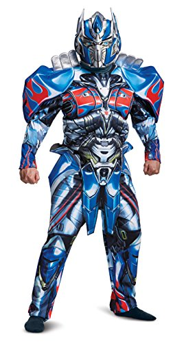Kostüm Transformers Optimus Prime Deluxe - Transformers 5 Deluxe Optimus Prime Fancy Dress Costume X-Large