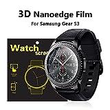 #10: Blureek 3D NANOEDGE Screen Guard Film for Samsung Gear S3 Smart Watch, Full Size Coverage \ Waterproof \ Anti-Scratch \ Bubble Free