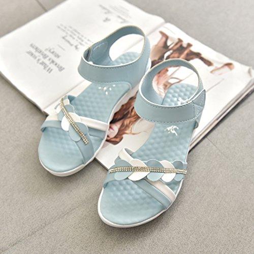 XY&GKFrau Xia Pingdi Mode Sandalen 38 blue