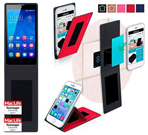 reboon Hülle für Huawei Honor 3C H30-L02 Tasche Cover Case Bumper | Rot | Testsieger