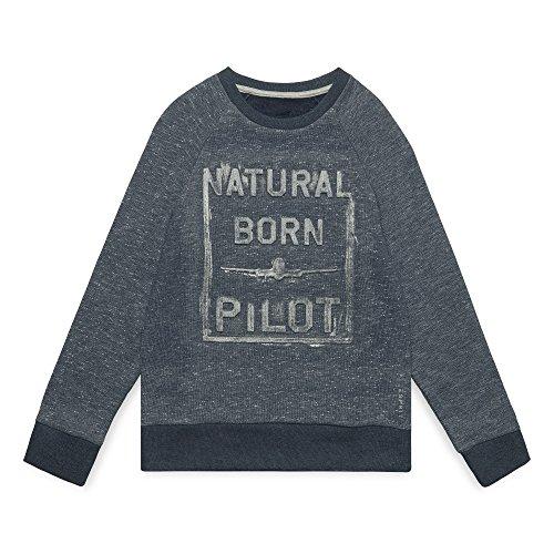 ESPRIT KIDS Jungen RM1505609 Sweatshirt, Blau (Twilight Blue 472), 170 (Herstellergröße:XL) Youth-fleece-sweatshirt