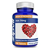 Iron 14mg, 180 Tablets, by Zipvit | Supports Cognitive Function and the Immune System | Reduces Tiredness & Fatigue by Zipvit