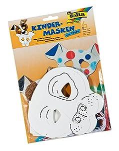 Folia 23201-Máscaras de niños Perro, 6Unidades, Color Blanco