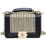 Épaule Sac Féminin Version Coréenne Mode Diamant Messenger Paquet De Chaîne Simple Sauvage Petit Sac Carré Portable
