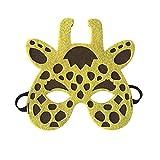 SJZC Maske Halloween Cosplay Cartoon-Muster Tier Masken Handarbeit Kind Augenmaske,Giraffe