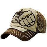Unisex Baseball Cap Forh Mode Sommer Kappe Mesh Hüte Super Coole Hip Hop Caps Chic Besticken Brief Kappe Sommer Sport Mütze Schirmmütze (Kaffee B)