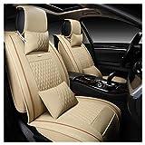 ADHW Coprisedile per Auto in Pelle, coprisedili per Auto Set Completo Coprivolante Universale per...