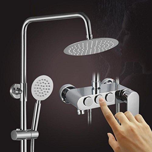 eme Handheld Duschköpfe Regen Mixer Dusche Combo Set, Edelstahl 3 Wege Wasserhahn Top Sprühkopf (Regen Duschkopf Badewanne Combo)