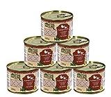 Dehner Fine Nature Katzenfutter Senior, Lebensmittelqualität, Truthahn und Ente, 6 x 200 g (1200 g)