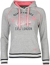Lee Cooper para pelotas de sudadera con capucha para mujer gris sudadera con capucha Top suéter sudadera, gris, UK 8 (XSmall)