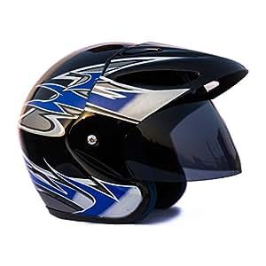 Autofy O2 HELMET0003 Full Close Helmet (Black and Blue, M)