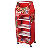 Ebee Baby Easy to Assemble Toy Box/Wardrobe (Red, 5 Layer)