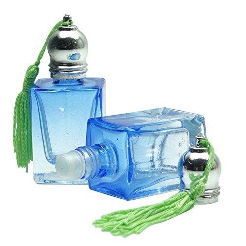 10 ml en verre gros rouleau vide sur les bouteilles de rouleau rechargeable sur les bouteilles d'huiles essentielles Aromathérapie Bleu Bouteilles Roller 2 Pcs