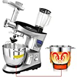 CHEFTRONIC Robot de Cocina Multifunción Batidora Amasadora SM-1086 220-240V / 800W 5.3qt Bowl Multifunción cocina mezclador eléctrico (SM1088-Silver)