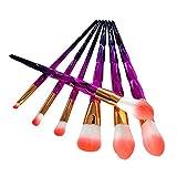 HARRYSTORE 7 Stücke Make-Up Pinsel Set Professionelle Gesicht Lidschatten Eyeliner Foundation Blush