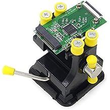Mini abrazadera de banco de tornillo de banco mesa con ventosa para Hobby PCB reparación de soldadura mandíbula apertura 48mm