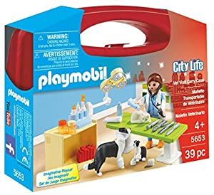 PLAYMOBIL Veterinaria- Playset, Multicolor, Miscelanea (5653)