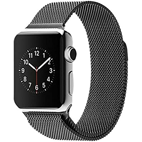 Apple Watch Band, ahxll milanese loop in acciaio inox cinturino bracciale in acciaio per Apple Watch con Chiusura Magnetica, No Fibbia Needed