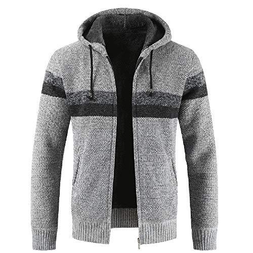 Bazhahei uomo top,uomo inverno giacca cardigan in maglia,uomo inverno caldo cappotto uomo autunno confezionato con cappuccio cerniera maglia cardigan giacche di pile giacca manica lunga cappotto