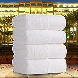 JUNCHEN Fünf-Sterne-Hotel Pure White Cotton Handtuch dickes Badetuch Super Soft stark saugfähiges Handtuch Spa/Beauty Salon/Resturant Supplies, 80X160Cm 800G