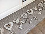 TappetoSuMisura Provenza Amour Passatoia Cucina Lavabile 50x180 cm