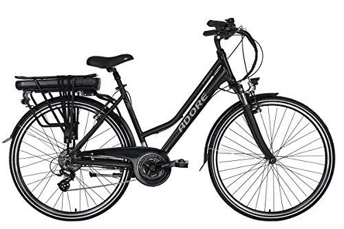 Adore Trekking E-Bike Damen 28\'\' Marseille Pedelec schwarz 250Watt Li-Ion 37V/13Ah 24Gänge