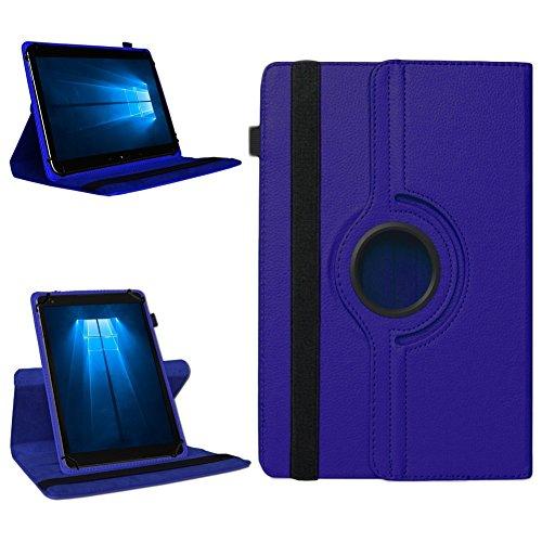 NAmobile Tablet Tasche für Odys Cosmo Win X9 Hülle Schutzhülle Case Cover 360° Drehbar, Farben:Blau
