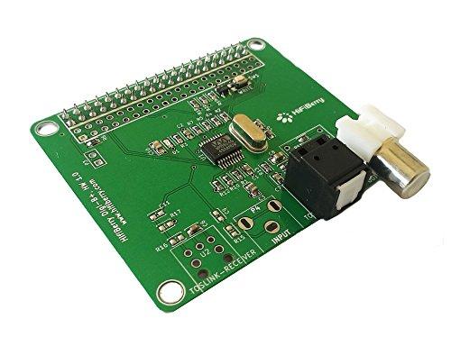 HiFiBerry Digi+ Standard Version - Digitale Soundkarte für Raspberry Pi 2 Modell B / B+ / A+ mit Toslink und Coax Anschluss