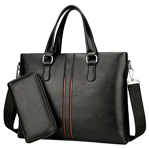 Männer Handtasche Großer Kapazitäts Schultertasche Kuriertasche Horizontale Business Bag Computer Tasche Freizeit Mode Black2