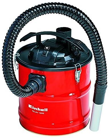 Einhell Aspirateur de cendres TC Amplificateur AV 1200(1200W, capacité du réservoir 18L, aluminium Tube d'aspiration, métal Tuyau)