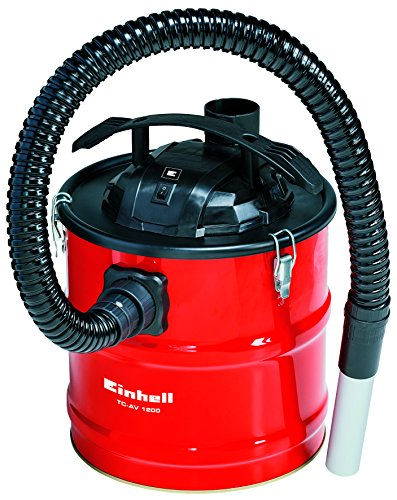 Einhell Aschesauger TC-AV 1200 (1200 W, metallverstärkter Saugschlauch, Aluminium-Saugrohr, Filterkartusche, Schnellverschlüsse, Tragegriff) - Sauberen Ofen-filter