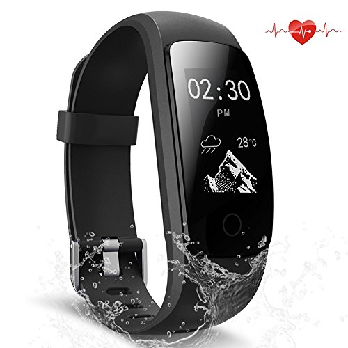 ScoFit Fitness Tracker Waterproof Activity Tracker With Heart Rate Monitor Smart Bracelet Wristband Bluetooth Wireless Pedometer Sleep Monitor Smartwatch For Android And IOS Smartphones
