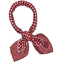 SXON Petit Foulard Fichu à Pois Coloré Polyester Pratique Classique Femme  Accessoire 33aa3508b4b