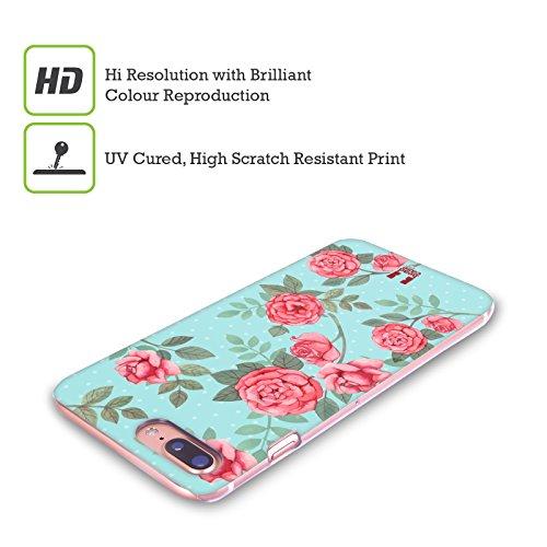 Head Case Designs Vorgeschmack Auf Den Sommer Nostalgische Rosenmuster Ruckseite Hülle für Apple iPhone 4 / 4S Blumen In Blau