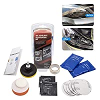Mookis Headlight Restoration Kit,Heavy Duty Drill Based Headlight Polishing Kit to Remove Yellow Gaze, Sand, Refine,Polish.