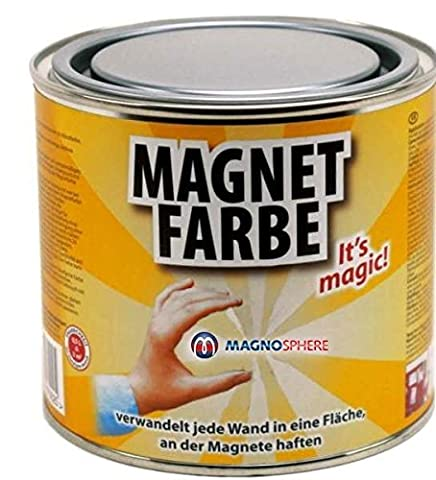 Magnetic Paint/Magnetic receptive wall paint - 500 ml Tin attracts