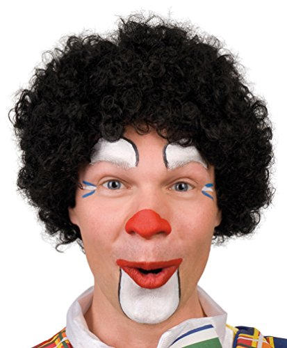 Karneval Klamotten Kostüm Perücke Clown Locken schwarz Zubehör Zirkus Karneval (Thema Zirkus Kostüme)